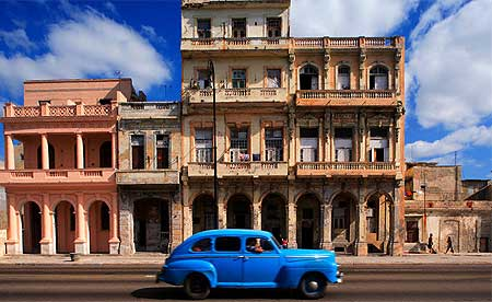 Havana Cuba with russian car